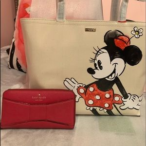 NWT KATE SPADE MINNIE MOUSE FRANCIS free K♠️Wallet